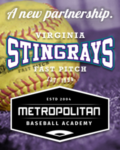 A new partnership. Virginia Stingrays Fastpitch is excited to announce our new partnership with Metropolitan Baseball Academy! Both organizations can't wait to connect the softball and baseball communities this coming season!
